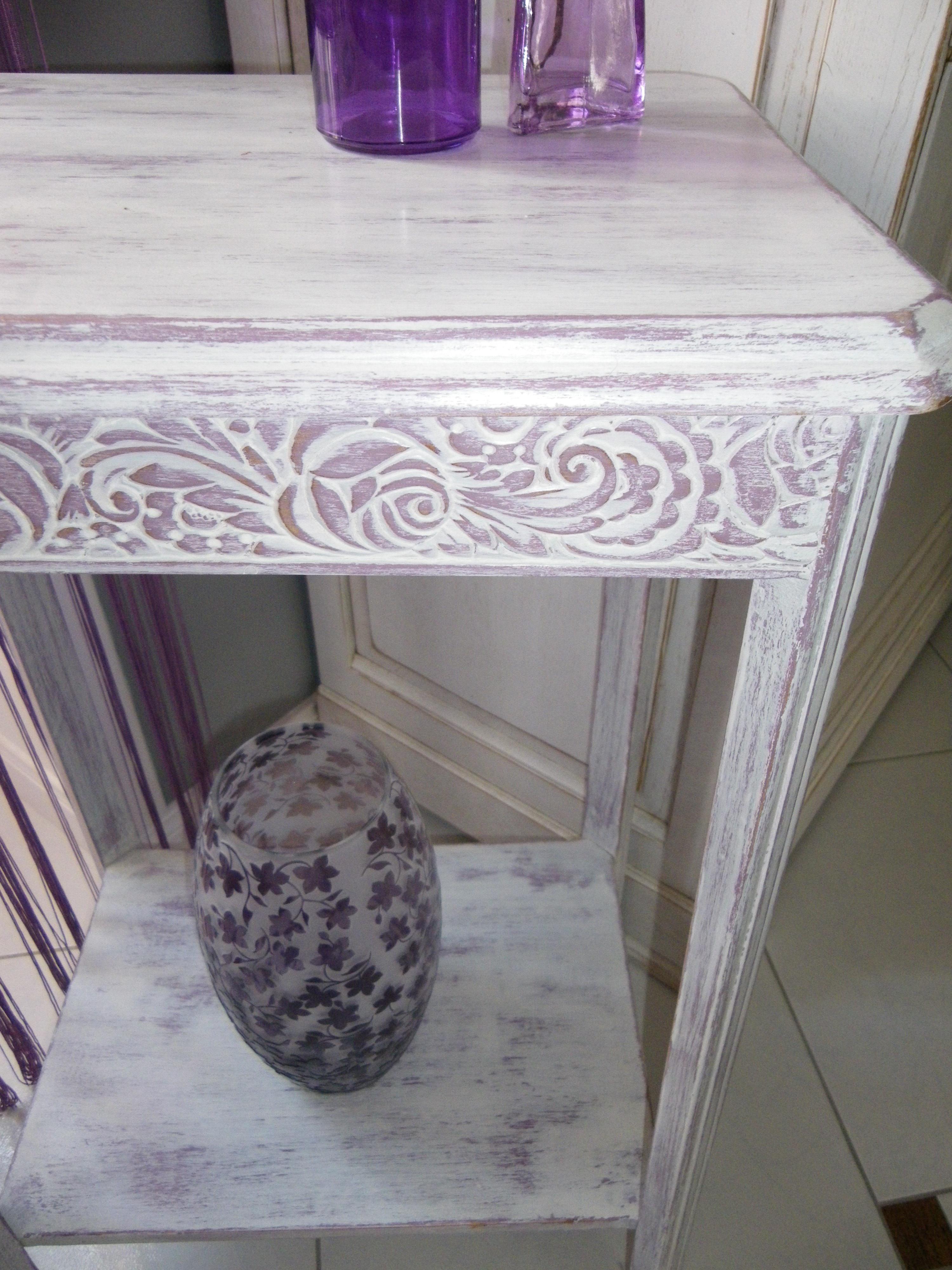 joli gu ridon des ann ee 30 patin couleur parme anjoudeco. Black Bedroom Furniture Sets. Home Design Ideas
