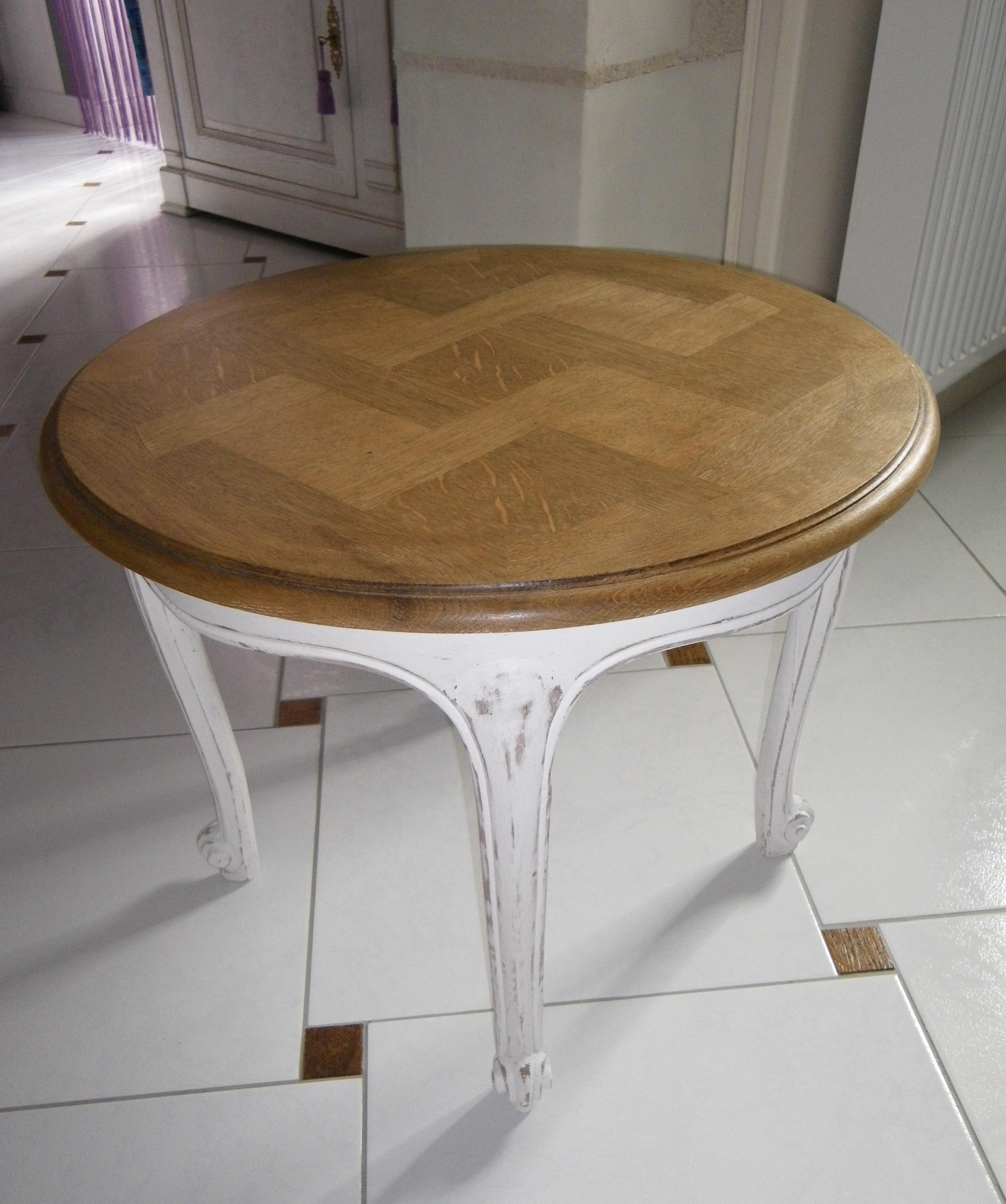 table ronde chene. Black Bedroom Furniture Sets. Home Design Ideas