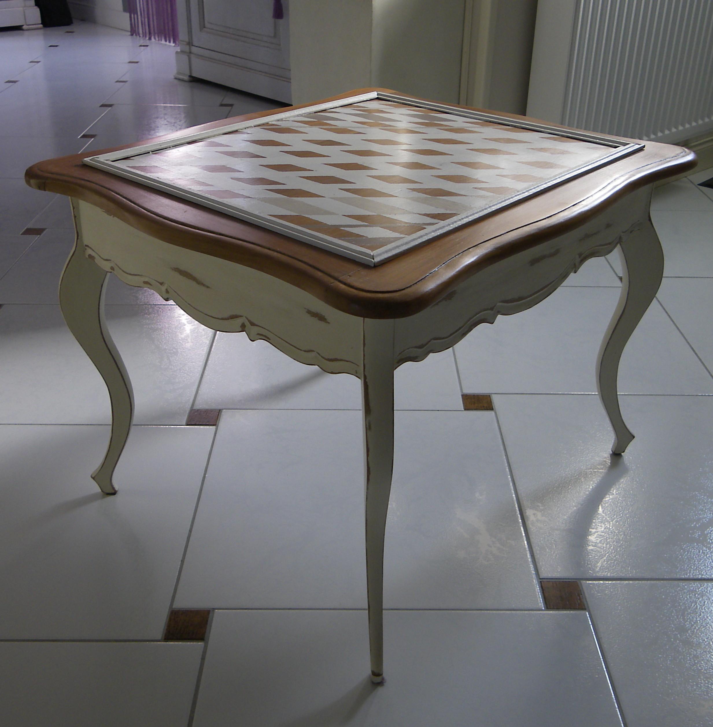 table basse table d appoint en merisier patin e anjoudeco. Black Bedroom Furniture Sets. Home Design Ideas